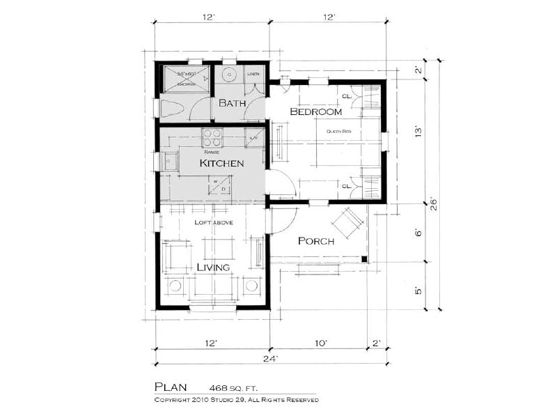 Awesome guest cottage plans pictures home building plans for Adu garage plans